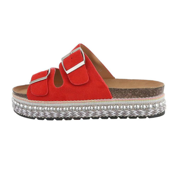 Red-slides-with-buckles-594585